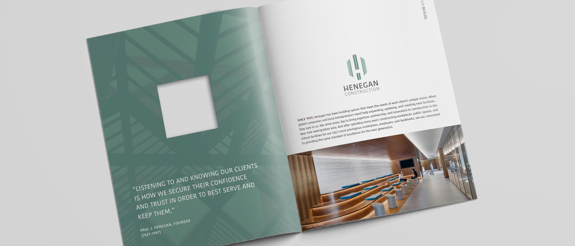 Collateral Branding for Henegan Construction New York