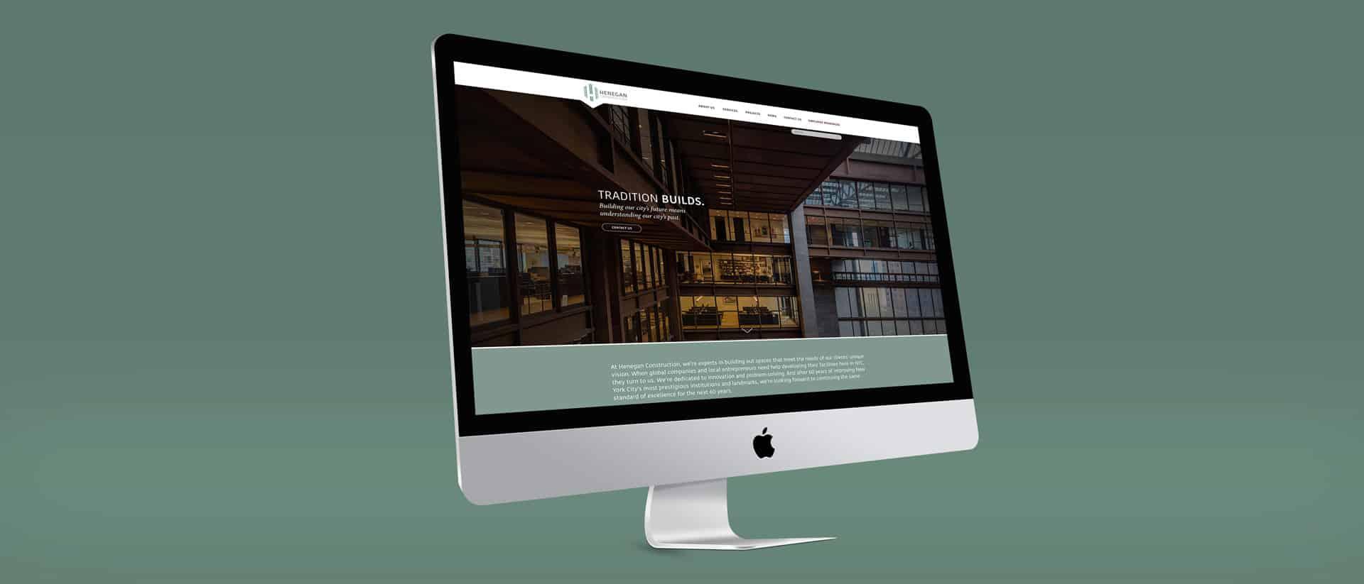 Web Design for Henegan Construction New York
