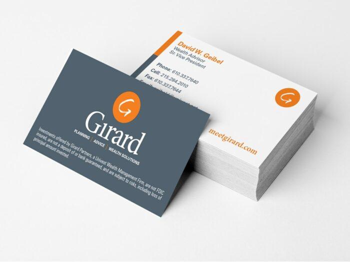Business Card Brand Design Girard Wealth Partners