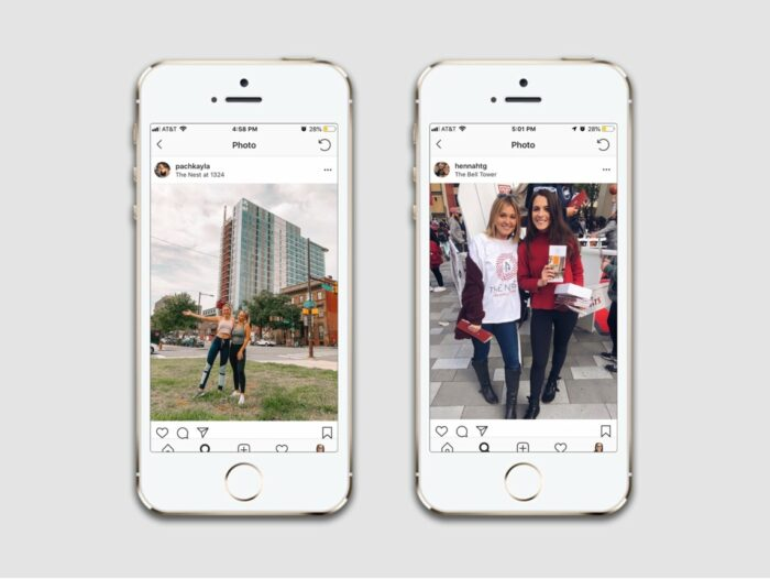 Social Media Marketing with Influencers for The Nest Student Housing