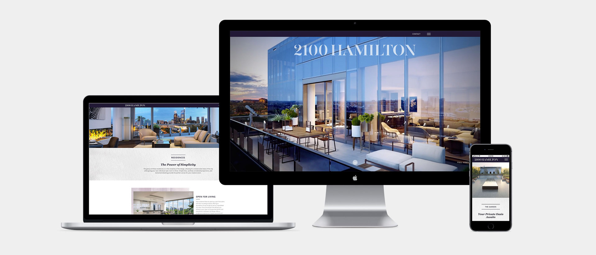 Web Design for 2100 Hamilton in Philadelphia