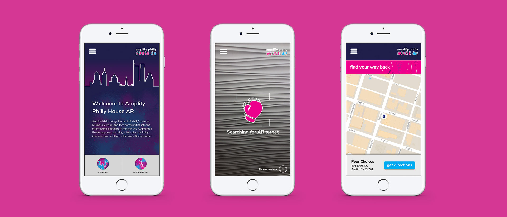 Mobile App Design for Amplify Philly at SXSW