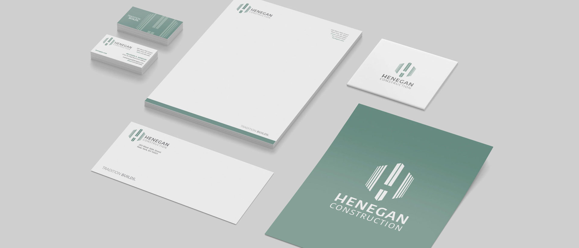 Brand Collateral Design for Henegan Construction New York