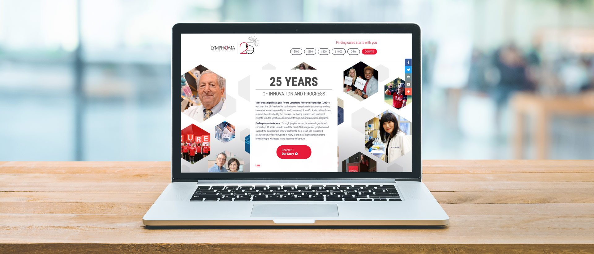 Digital Marketing for Lymphoma Research Foundation