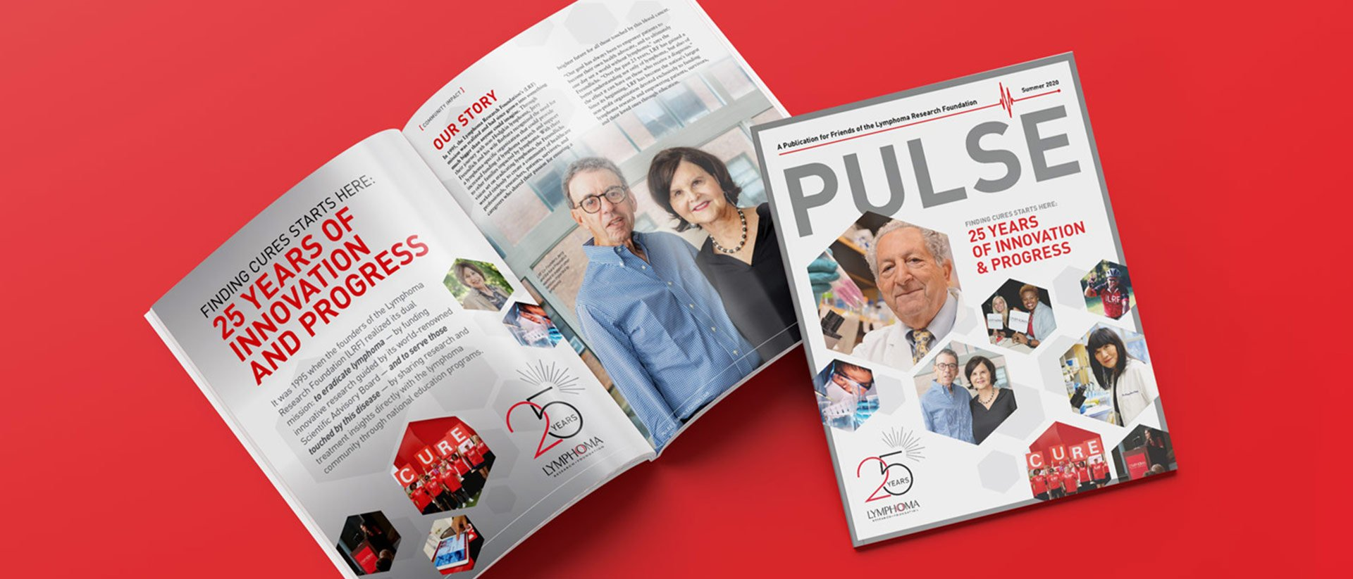 Editorial Design for Lymphoma Research