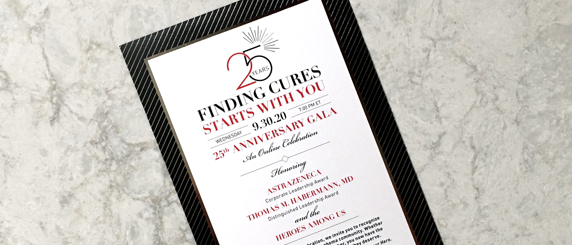 Graphic Design for Lymphoma Research Anniversary