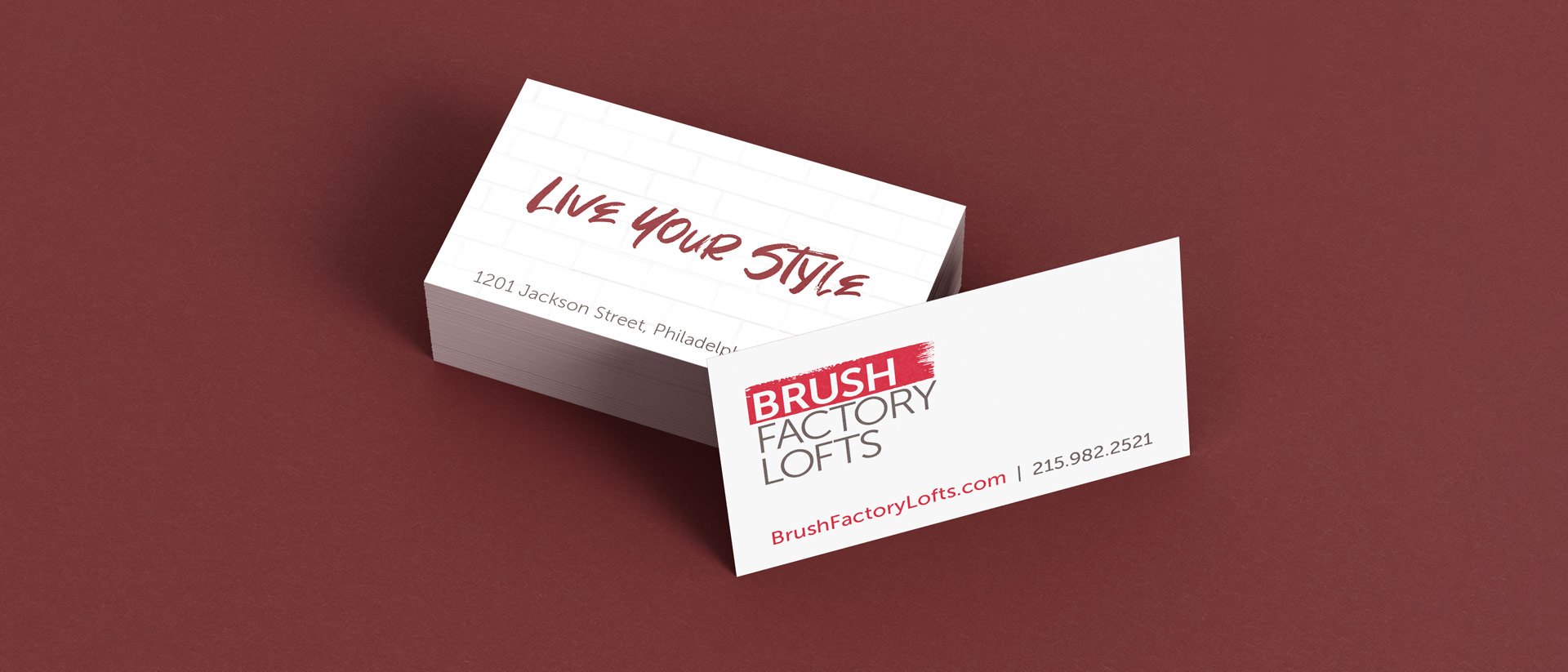 Brand Identity for Brush Factory Lofts in Philadelphia