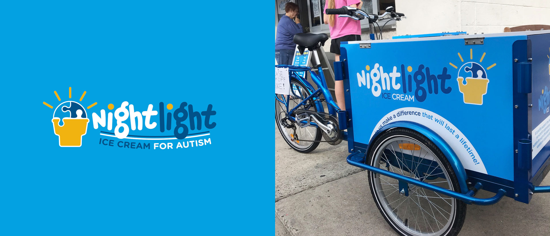 Branding and Indentity for Nightlight Ice Cream for Autism