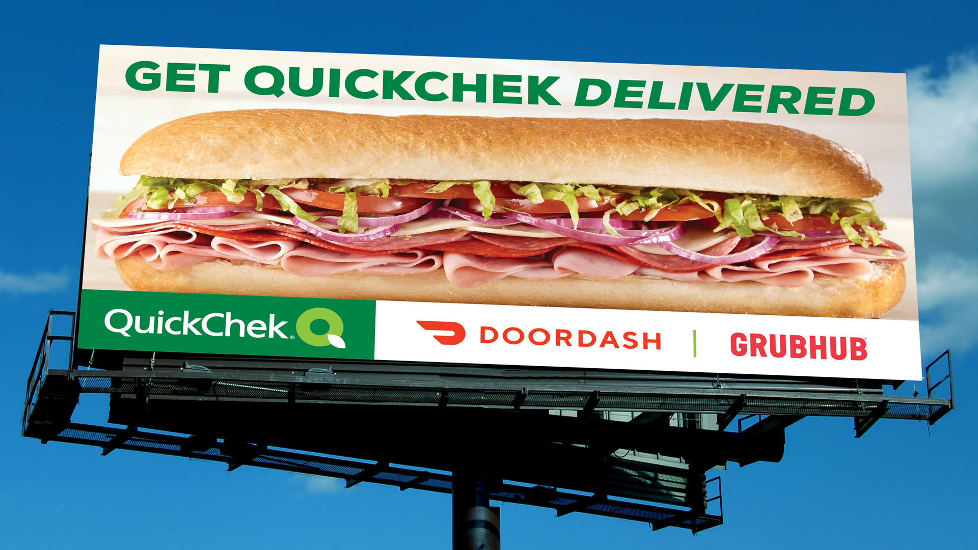 Outdoor Advertising for QuickChek Delivery
