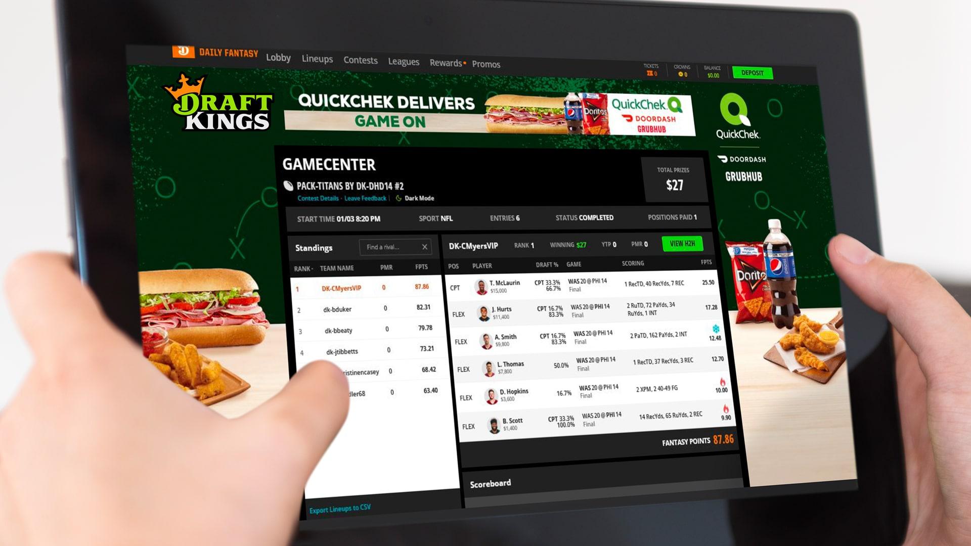 Digital Advertising on Draft Kings