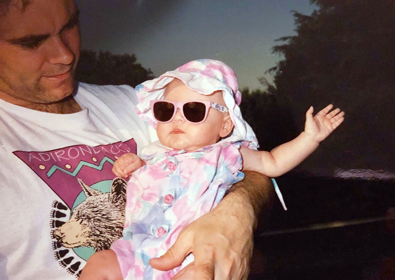 Advertising Copywriter Rachel Garman, baby photo